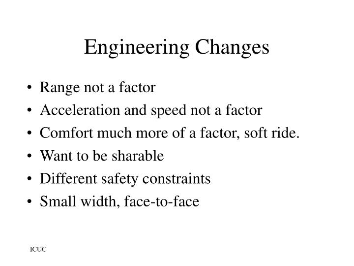 Engineering Changes