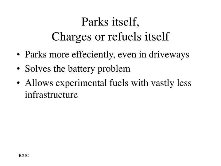 Parks itself,