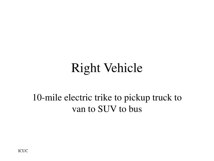 Right Vehicle