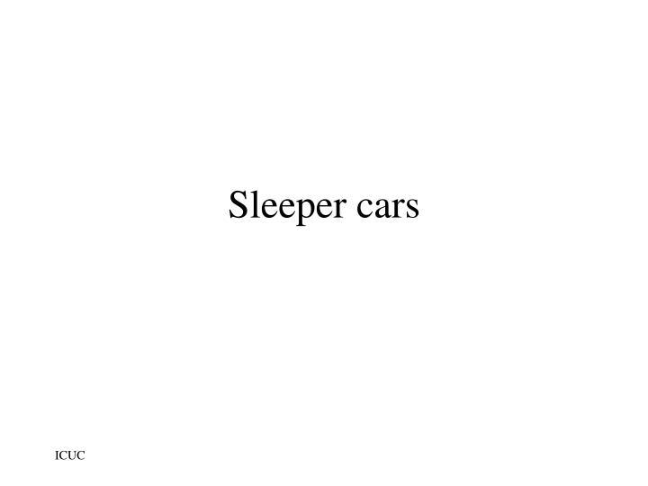 Sleeper cars