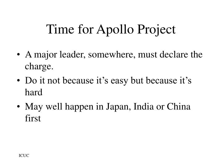 Time for Apollo Project
