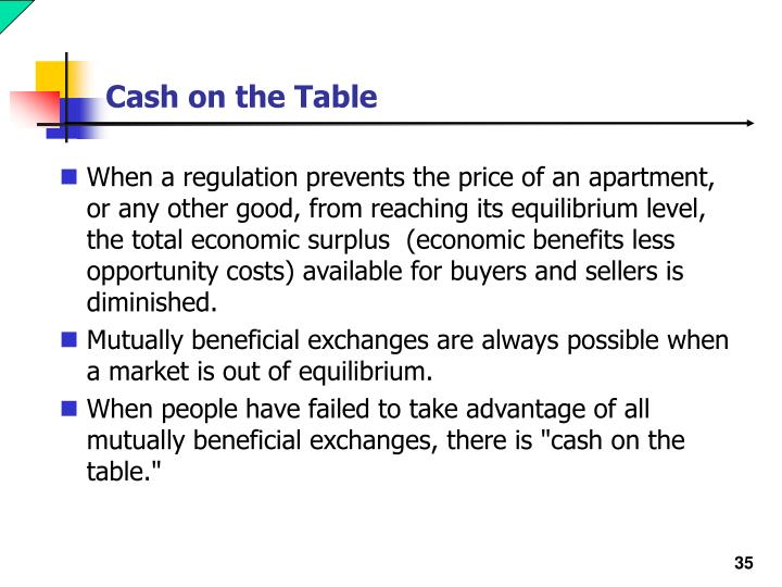 Cash on the Table