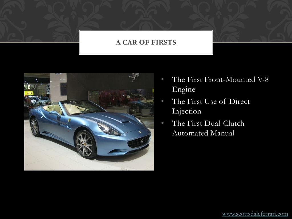 A Car of Firsts