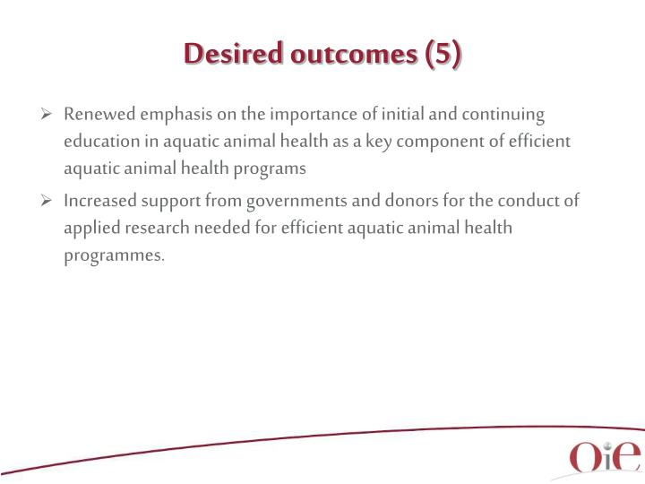 Desired outcomes (5)