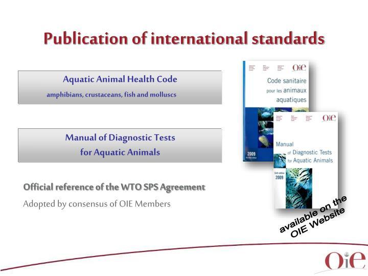 Publication of international standards