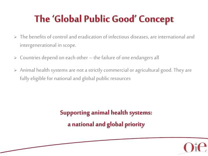 The 'Global Public Good' Concept