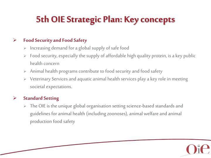 5th OIE Strategic Plan: Key concepts