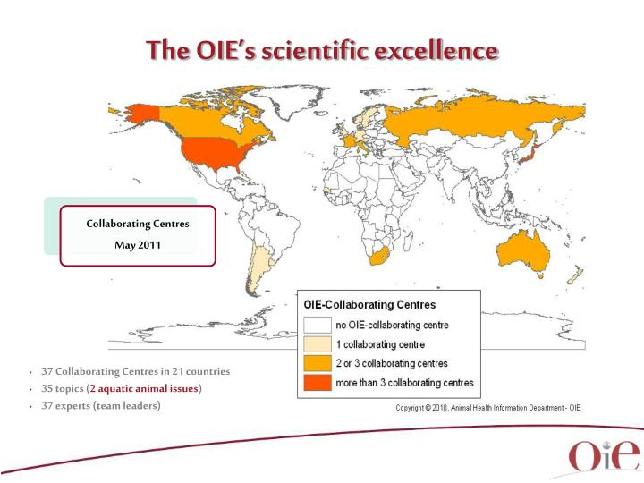 The OIE's scientific excellence