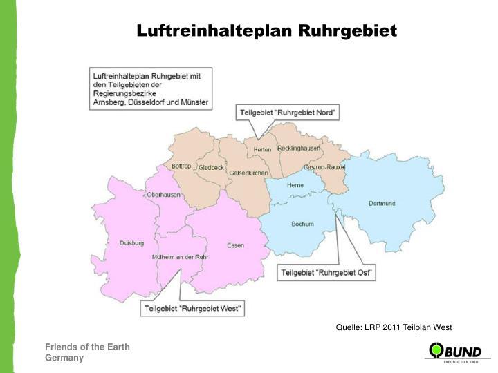 Luftreinhalteplan Ruhrgebiet