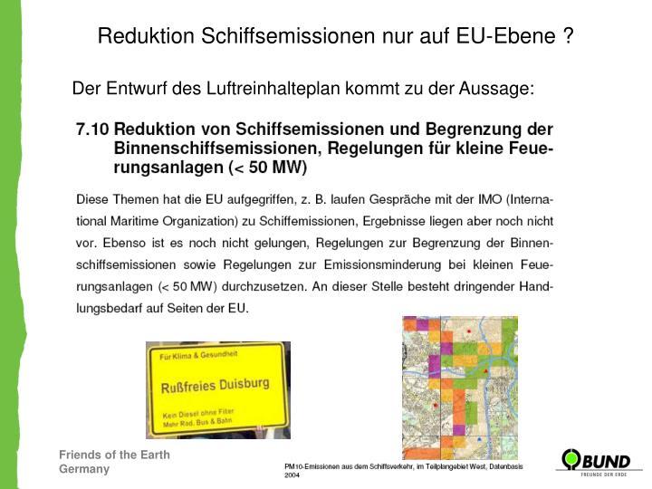 Reduktion Schiffsemissionen nur auf EU-Ebene ?