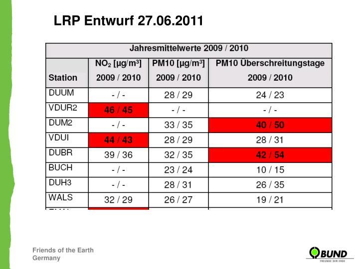 LRP Entwurf 27.06.2011