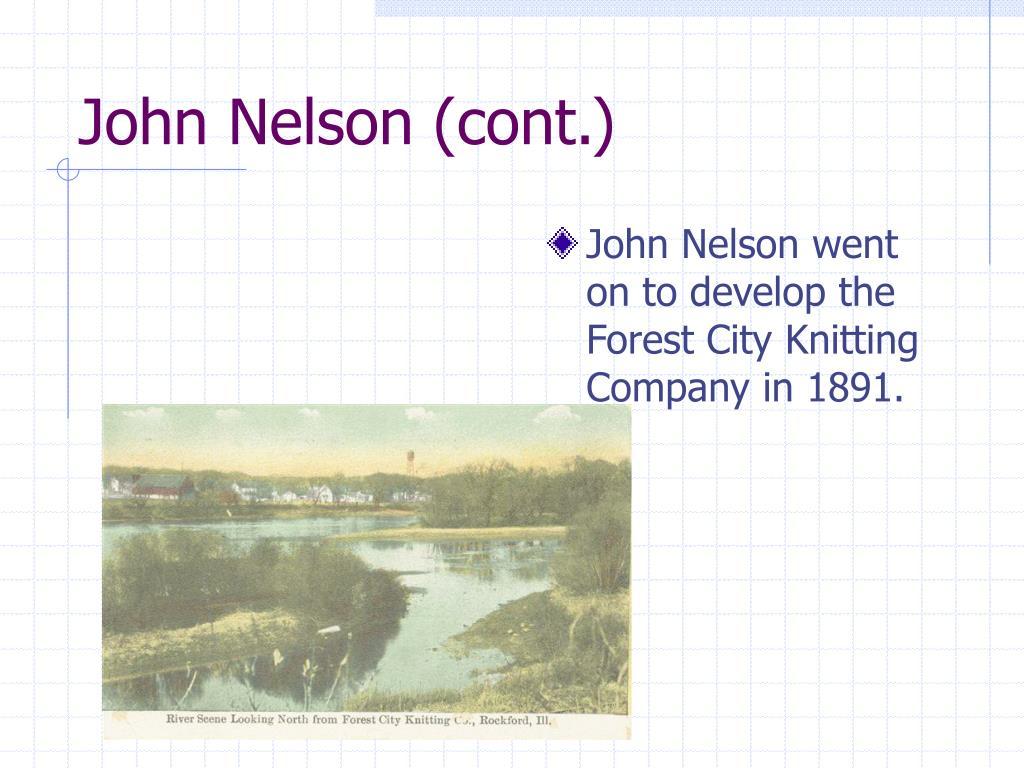John Nelson (cont.)