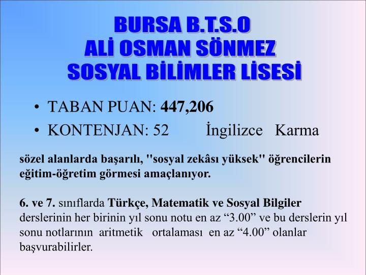 BURSA B.T.S.O
