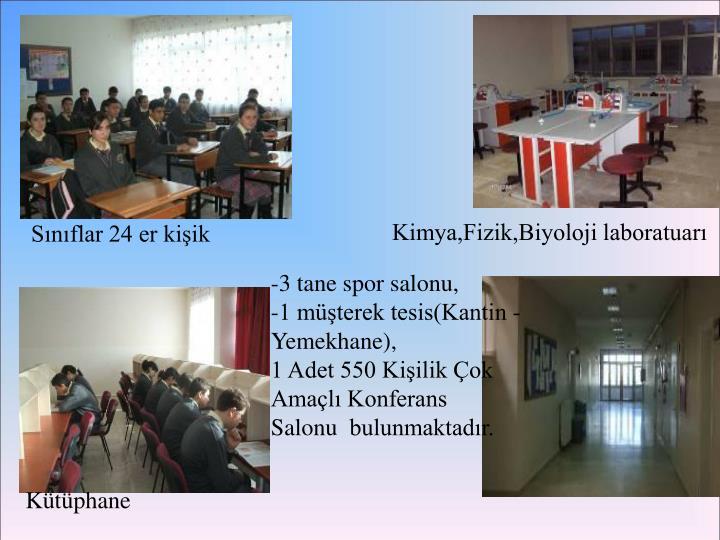 Kimya,Fizik,Biyoloji laboratuarı