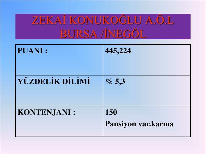 ZEKAİ KONUKOĞLU A.Ö.L