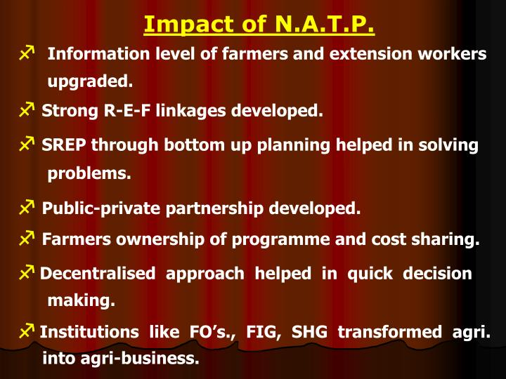 Impact of N.A.T.P.