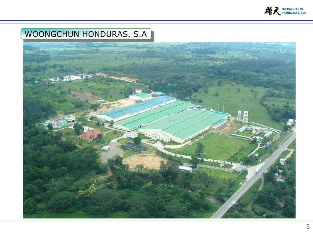 WOONGCHUN HONDURAS, S.A