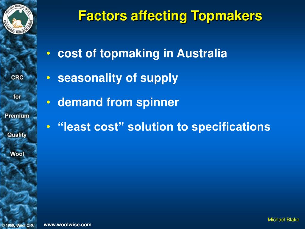Factors affecting Topmakers