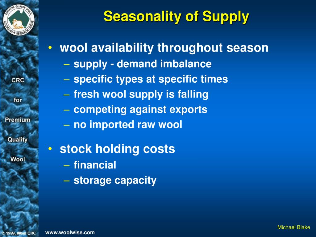 Seasonality of Supply