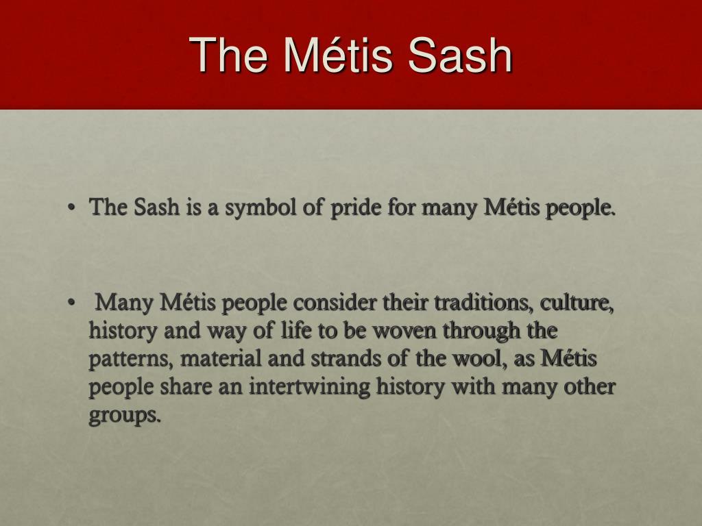 The Métis Sash
