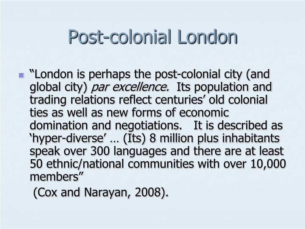 Post-colonial London