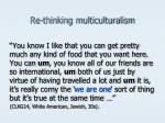 re thinking multiculturalism