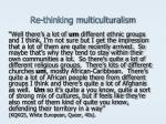 re thinking multiculturalism8
