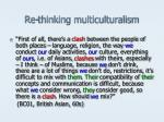 re thinking multiculturalism9
