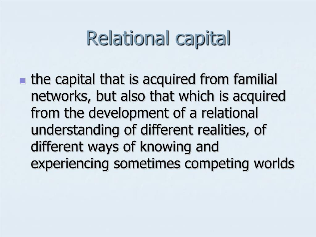 Relational capital