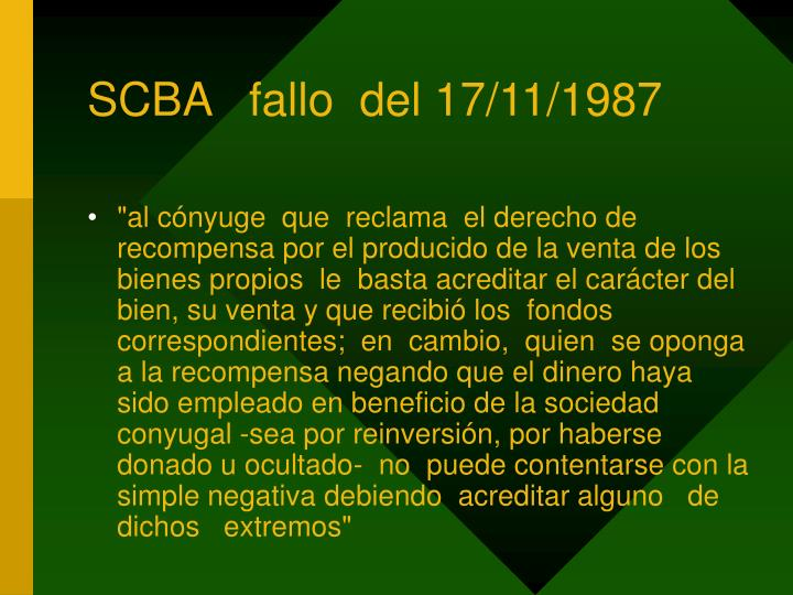 SCBA   fallo  del 17/11/1987