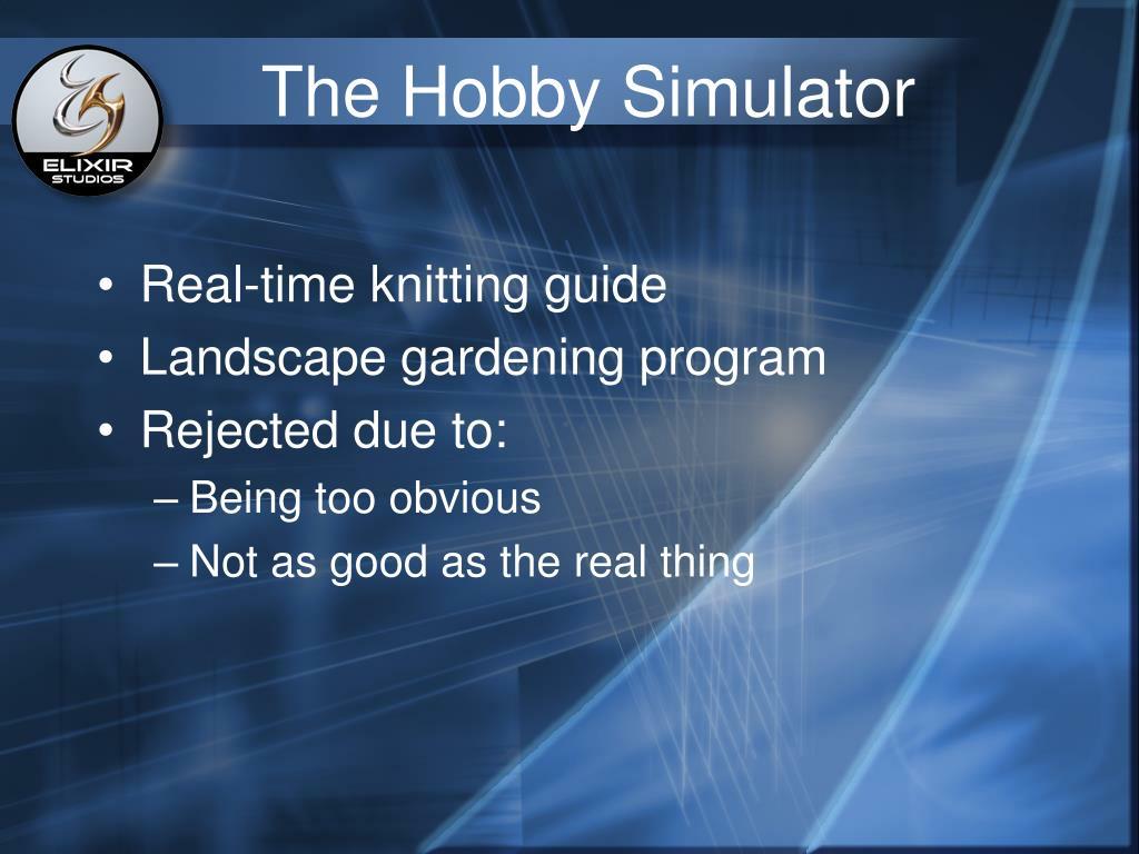 The Hobby Simulator