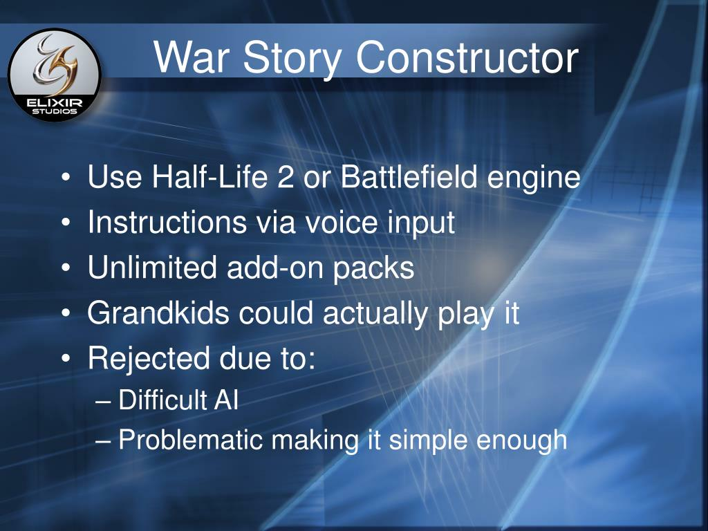 War Story Constructor