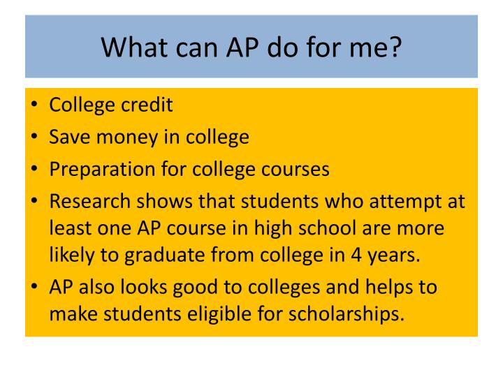 What can AP do for me?