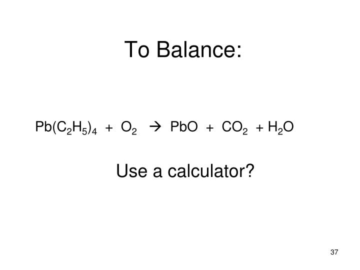 To Balance: