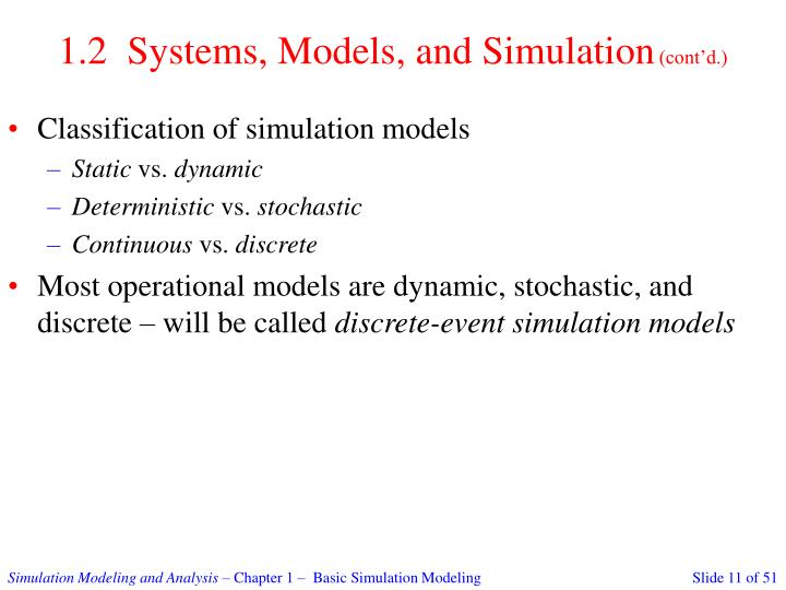 1.2  Systems, Models, and Simulation