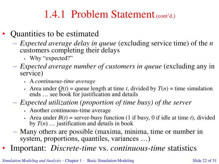 1.4.1  Problem Statement