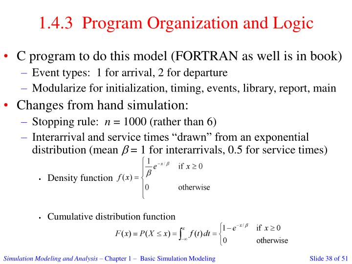 1.4.3  Program Organization and Logic