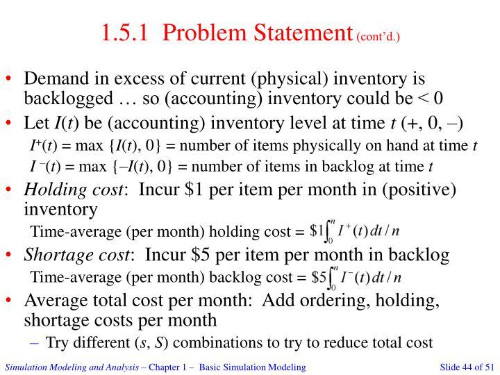 1.5.1  Problem Statement