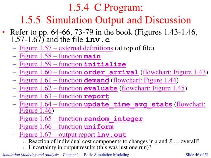 1.5.4  C Program;