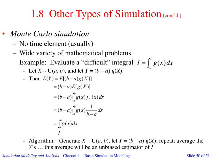 1.8  Other Types of Simulation