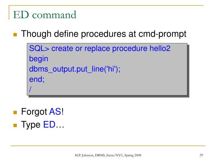 ED command