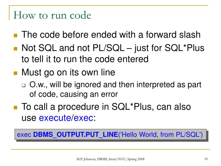 How to run code