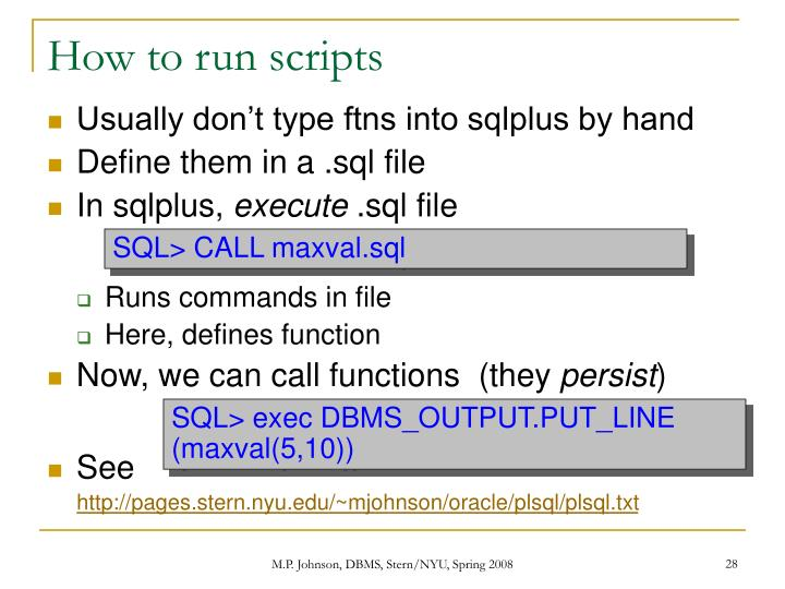 How to run scripts
