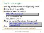 how to run scripts