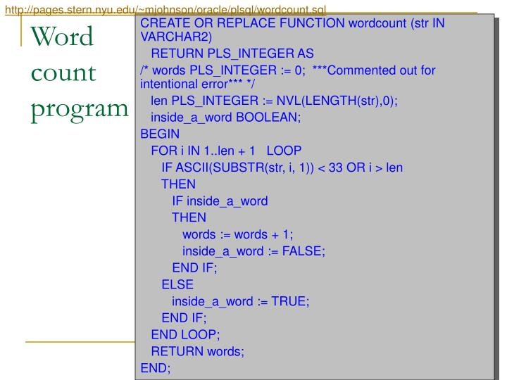http://pages.stern.nyu.edu/~mjohnson/oracle/plsql/wordcount.sql