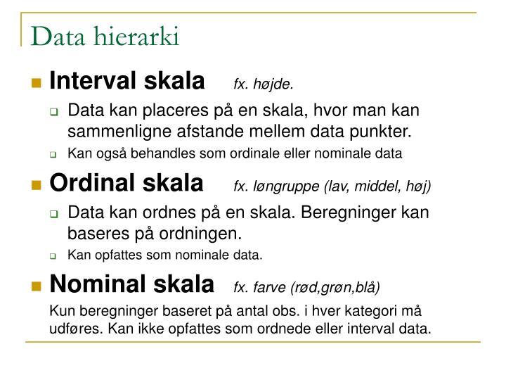 Data hierarki