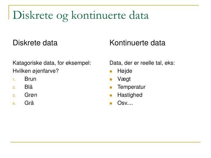 Diskrete data