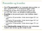 percentiler og kvartiler