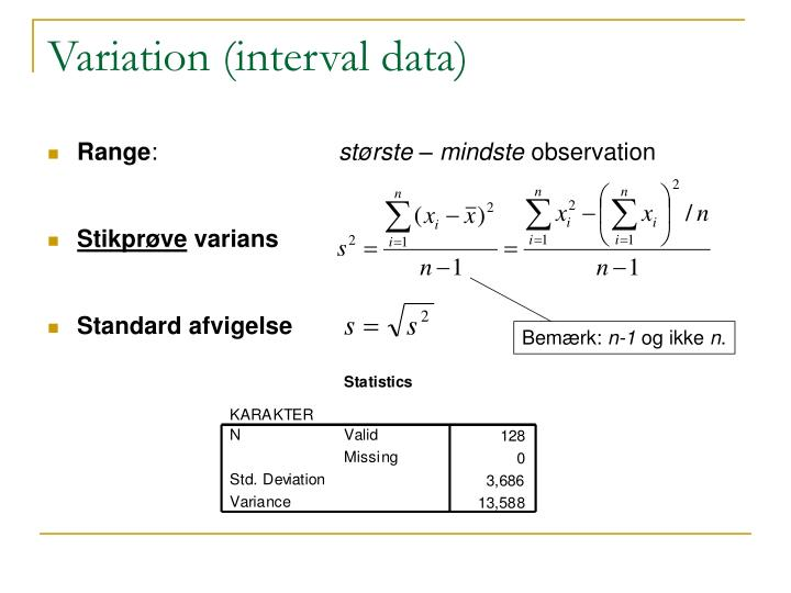 Variation (interval data)