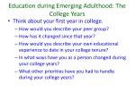 education during emerging adulthood the college years